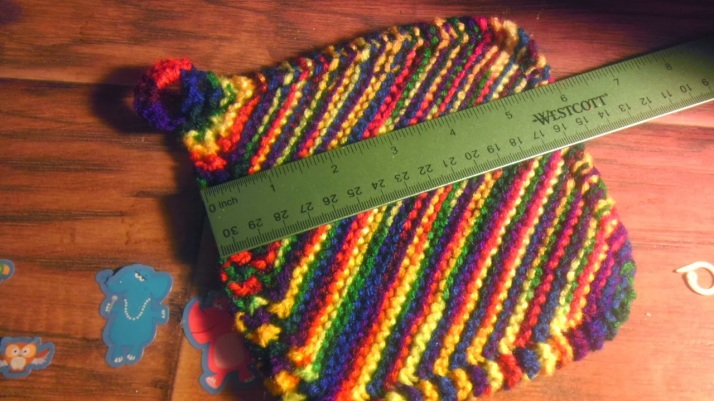 A quick and easy knit dish cloth.