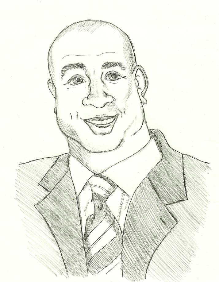 Caricature practice with Magic Johnson.
