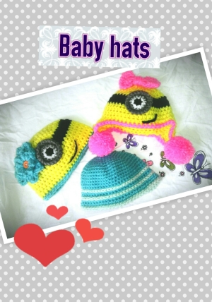 Some baby hats I worked on 12/3