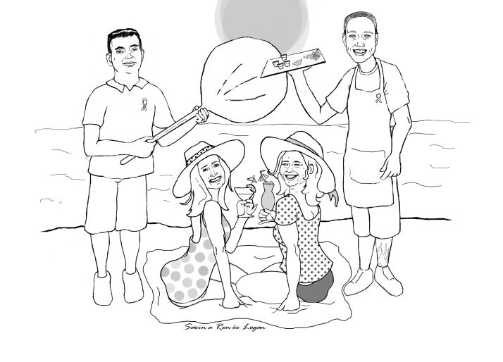 Beachy friends