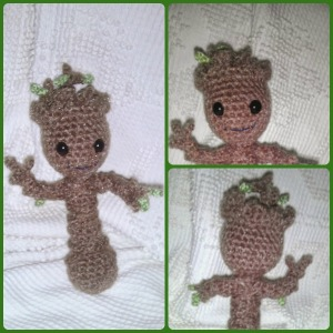 Baby Groot made by me. Pattern by Twinkie Chan.