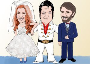 This is one of the final caricatures I'd created for the wedding in November. One of my favorites.